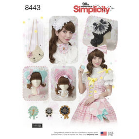 Pattern 8443 Misses' Hair Accessories , Purses and Medallions