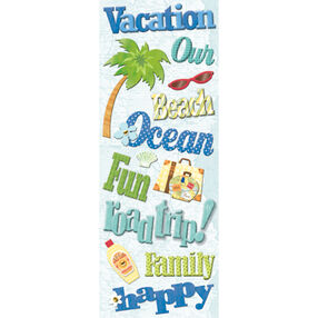Happy Trails Words Adhesive Chipboard_565739