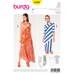 Burda Style Pattern B6500 Misses' Asymmetrical Dress