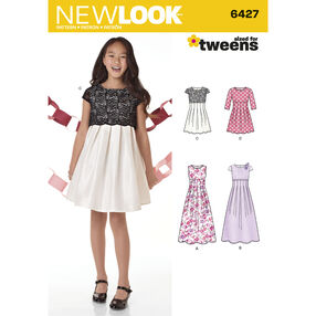 Girls' Dress in Two Lengths