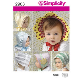 Simplicity Pattern 2908 Babies' & Toddlers' Hats