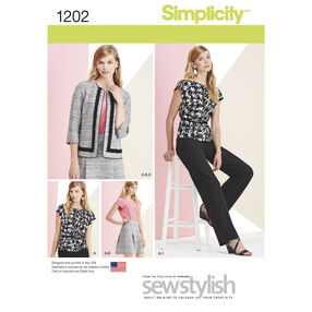 Simplicity Pattern 1202 Misses' and Miss Petite Sportswear