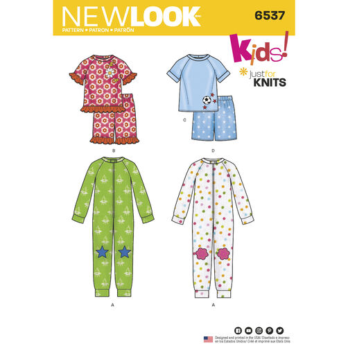New Look Pattern 6537 Toddler and Child Cozywear