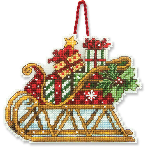 Sleigh Ornament, Counted Cross Stitch_70-08914