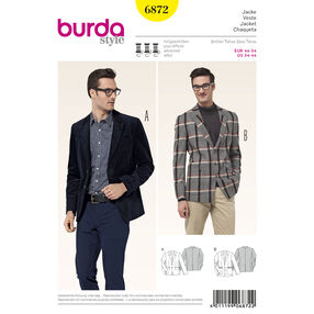 Burda Style Pattern 6872 Mens Wear, Sports Wear