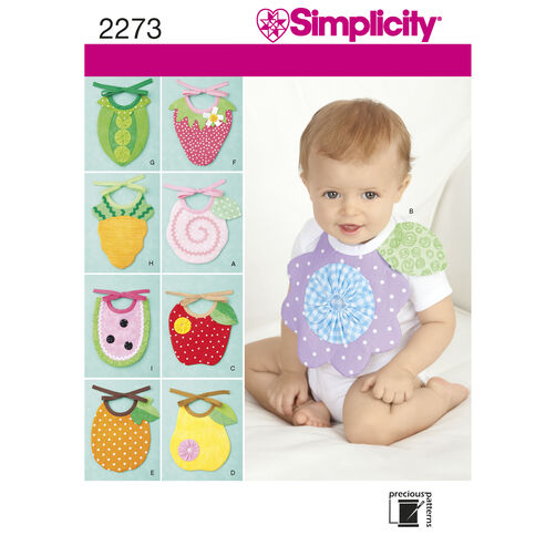 Simplicity Pattern 2273 Baby Bibs