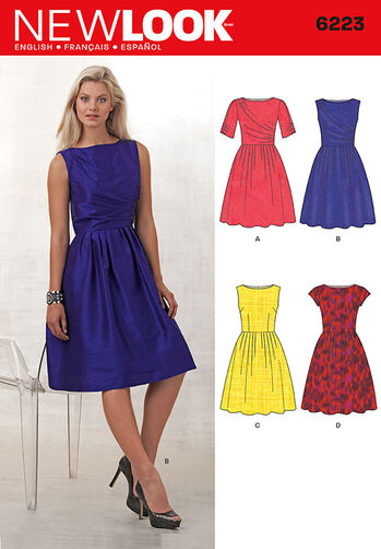 Misses' Dress with Bodice Variations