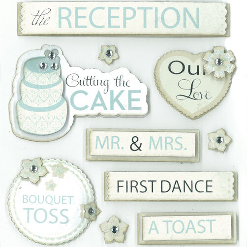Wedding Reception Dimensional Sticker  _30-577961