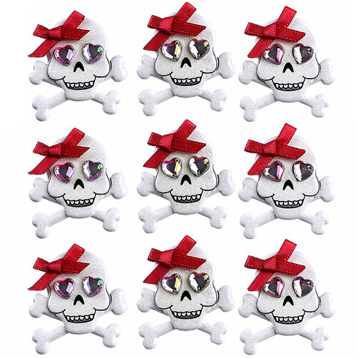 Skulls with Bows Repeat Stickers_50-21646