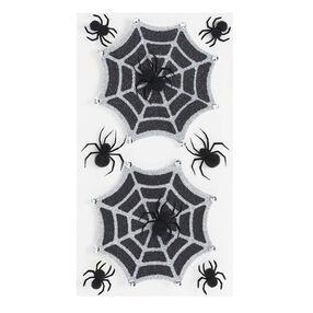 Glitter Halloween Spiderwebs Stickers_50-50385