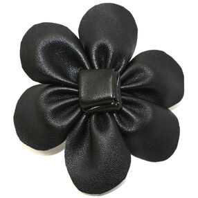 Two-toned Black Crushed Velvet Pin & Clip Flower_56-63019