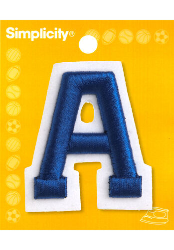 2 raised embroidery letter iron on applique