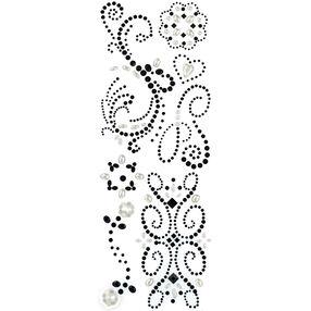 Black Swirl Adhesive Gems_30-676978