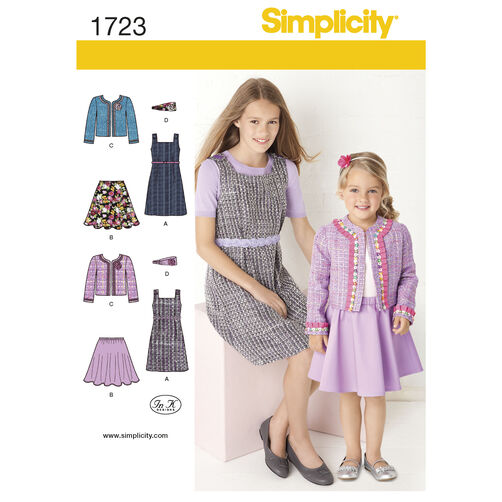Simplicity Pattern 1723 Child's and Girls' Sportswear