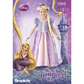 Simplicity Pattern 2065 Disney Princess Tangled Costumes for Children