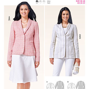 Burda Style Pattern 6822 Jackets, Coats, Vests