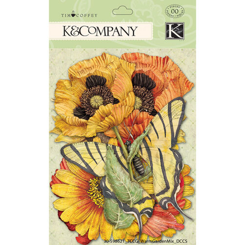 Tim Coffey Cottage Garden Warm Mix Die-cut Cardstock_30-598621