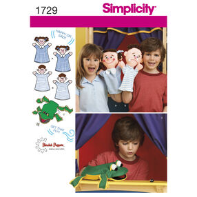 Simplicity Pattern 1729 Hand Puppets