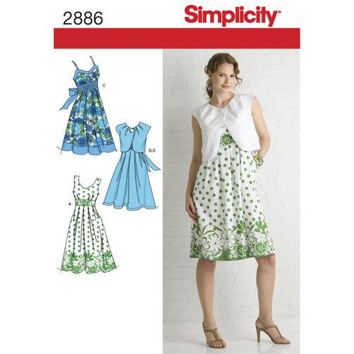 Simplicity Pattern 2886 Misses' Dresses