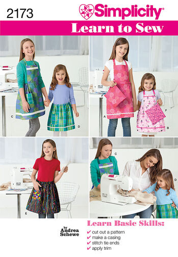 Learn to Sew Child's & Girls' Apron