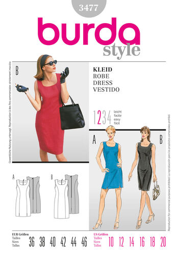 Burda Style Pattern 3477 Dress