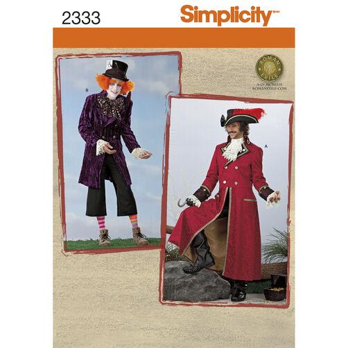 Simplicity Pattern 2333 Men's Costumes