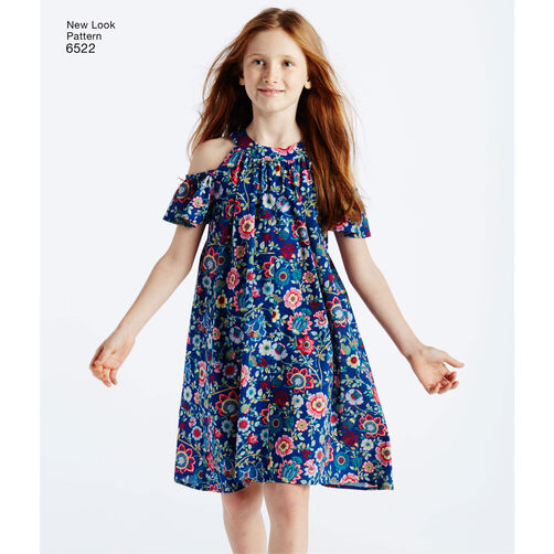 New Look Pattern 6522 Child S And Girls Dresses And Top