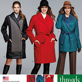 Miss/Petite Coat or Jacket Threads Magazine Collection