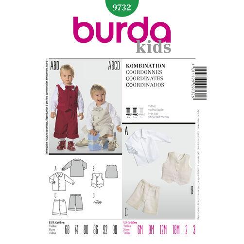 Burda Style Pattern 9732 Coordinates