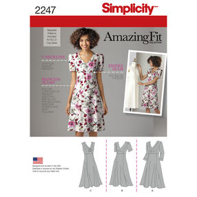 Simplicity Pattern 2247 Misses' & Plus Size Amazing Fit Dresses
