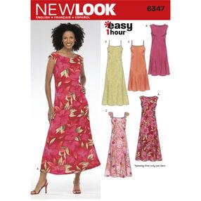 New Look Pattern 6347 Misses Dresses
