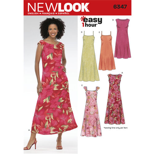 New Look Pattern 6347 Misses Dresses