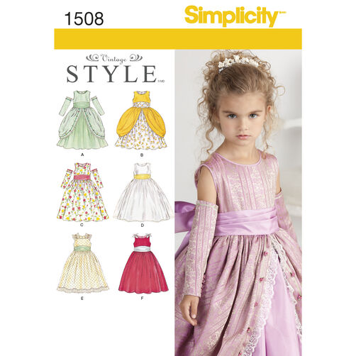 Simplicity Pattern 1508 Child's Special Occasion Dress