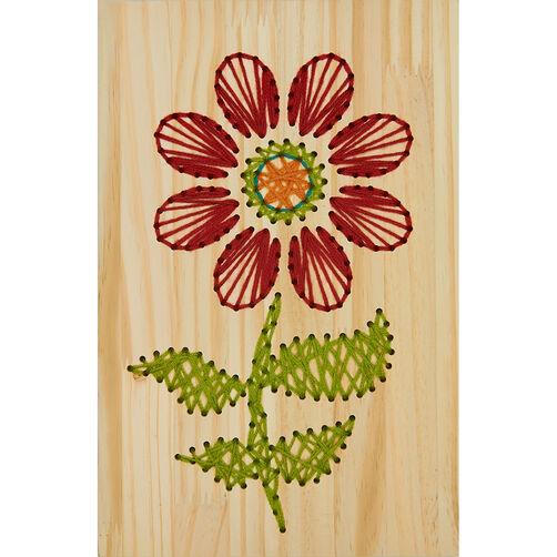 Flower yarn art embroidery