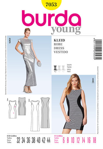 Burda Style Pattern 7053 Dress