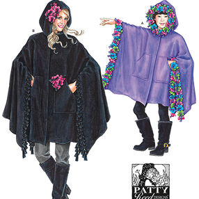 Child's, Girls' and Misses' Fleece Ponchos