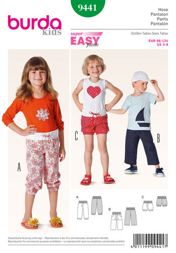 Burda Style Pattern 9441 Children