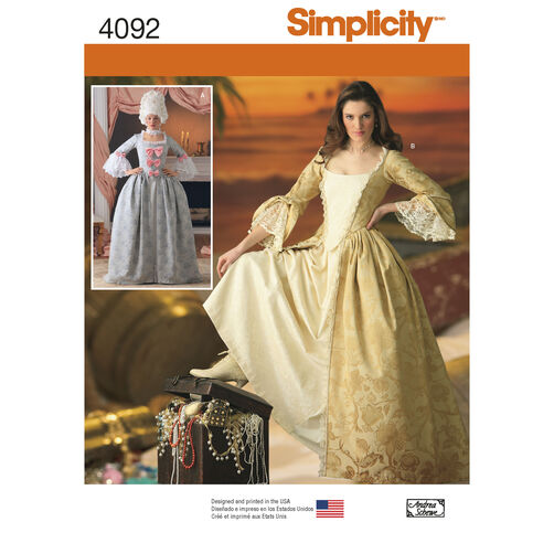 Simplicity Pattern 4092 Misses' Costumes