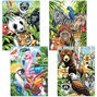 Animal Collage, Pencil by Number Set of 4_73-91451
