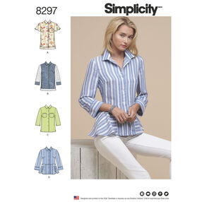 Simplicity Pattern 8297 Misses' Shirts