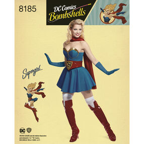 Pattern 8185 D.C Bombshells Super Girl Costume for Misses