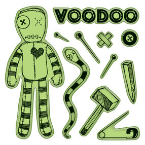 Voodoo Doll Cling Stamps_60-60159