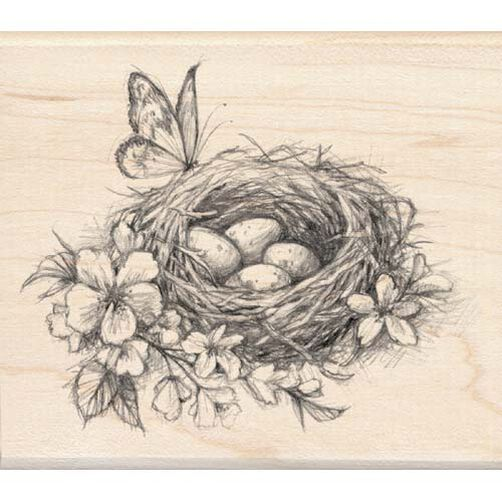 Nest with Flowers_97148