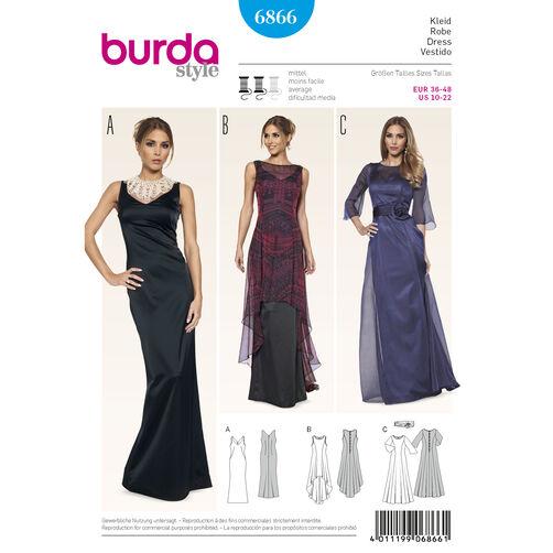 Burda Style Pattern 6866 Evening & Bridal Wear