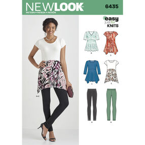 New Look Pattern 6435 Misses' Knit Leggings and Tunics