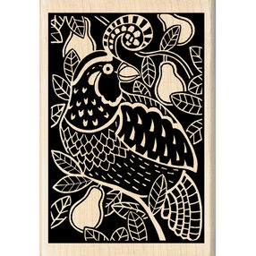 Partridge Woodcut Wood Stamp_60-01009