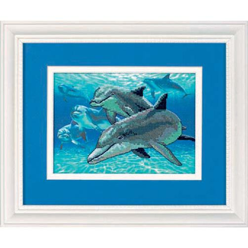 Deep Sea Dolphins, No Count Cross Stitch_06944