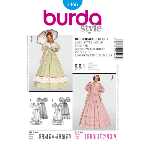 Burda Style Pattern 7466 Biedermeier Dress