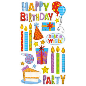 Birthday Party stickers _52-00761