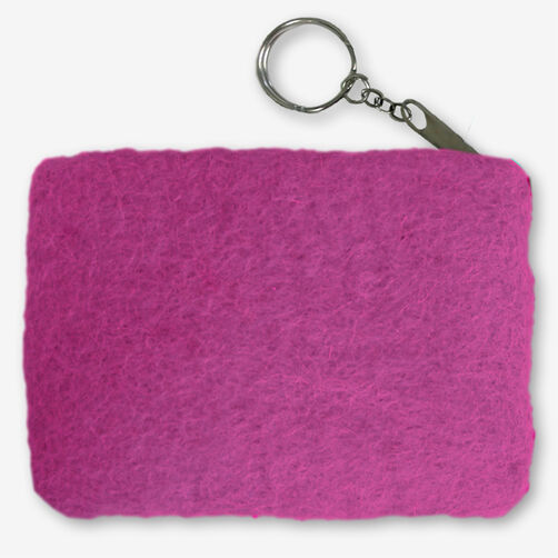 Rose Wool Felt Coin Purse_72-73647